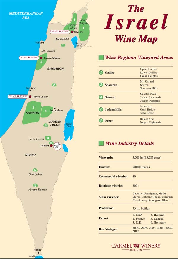 The Israel Wine map
